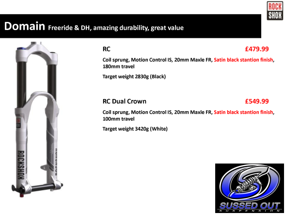 2013 Rockshox Domain - Freeride & DH, amazing durability, great value!