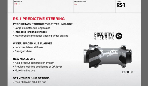 2015 Rockshox RS-1 Predictive Steering 'Torque Hub' technology